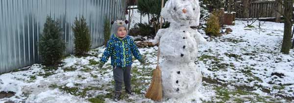 Pierwszy bałwan w sezonie zima 2014/2015
