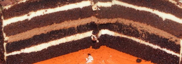 Tort czekoladowo- ajerkoniakowy z kawą